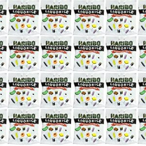 x24 Haribo Liquorice Favourites No Artificial Colours 265g
